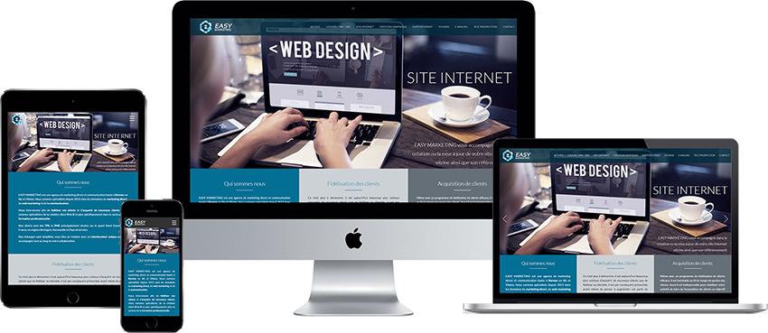 cr ation de site internet rennes au meilleur rapport qualit prix easy marketing. Black Bedroom Furniture Sets. Home Design Ideas