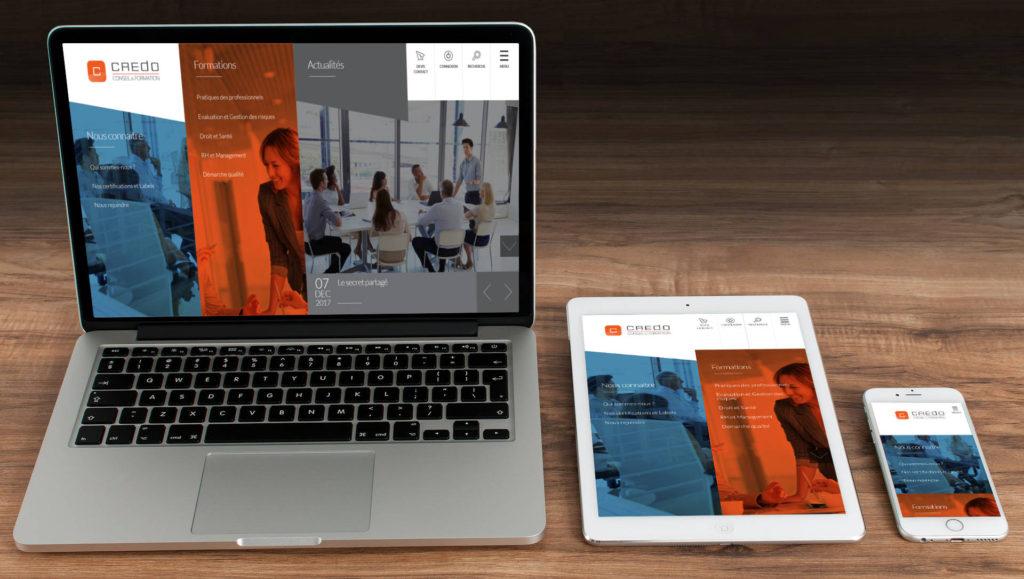 Création du site Internet de Crédo Formation à Rennes 35 Ille et Vilaine Bretagne