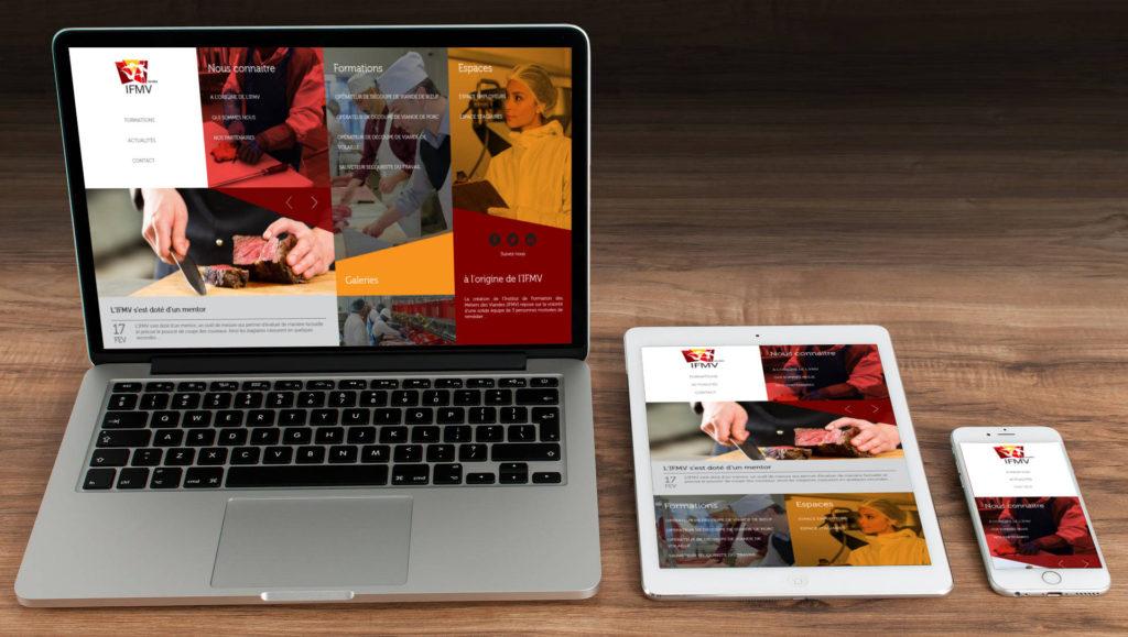 Création du site Internet de l'IFMV à Rennes 35 Ille et Vilaine Bretagne
